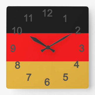 Germany colors square wall clock