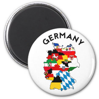 germany country political flag map region province 6 cm round magnet
