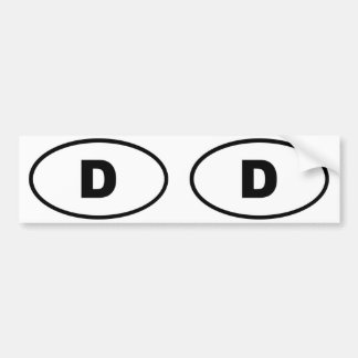 Germany Deutschland European oval Bumper Sticker