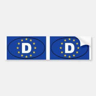 Germany Deutschland European Union oval Bumper Sticker