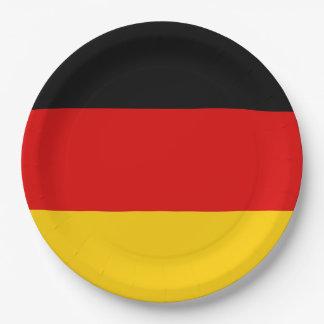 Germany Deutschland flag 9 Inch Paper Plate
