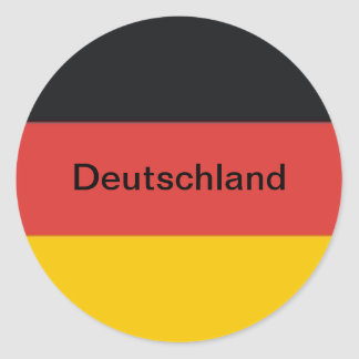 Germany Deutschland flag Classic Round Sticker