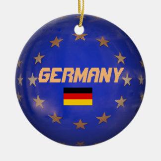 Germany European Union Flag Christmas Ornament