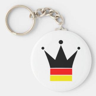 Germany Flag Basic Round Button Key Ring
