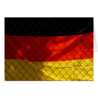 Germany Flag behind Chain Link Fence Card