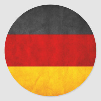 Germany Flag Classic Round Sticker