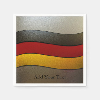 Germany Flag Colors-Chrome by Shirley Taylor Disposable Serviette
