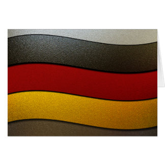Germany Flag Colors-Chrome Greeting Card
