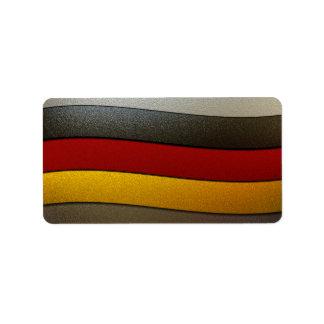 Germany Flag Colors-Chrome Address Label