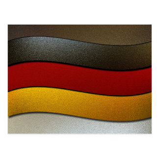 Germany Flag Colors-Chrome Postcard