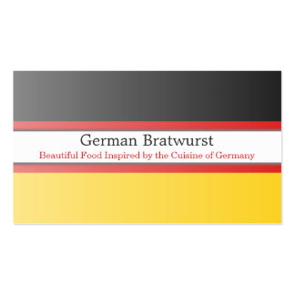 Germany Flag, Fully Customizable Business Card