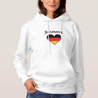 Germany Flag Heart Hoodie