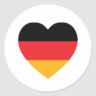 Germany Flag Heart Sticker