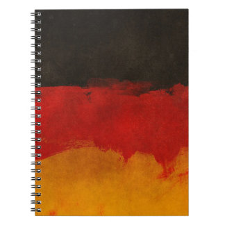 Germany Flag Home Country Black Red Gold Spiral Notebook