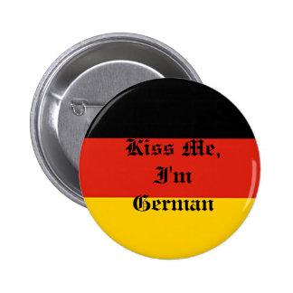 Germany_flag, Kiss Me, I'm German 6 Cm Round Badge