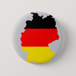 Germany flag map 6 cm round badge