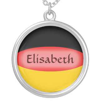 Germany Flag + Name Necklace