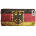 Germany Flag on Old Wood Grain