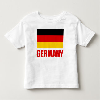 Germany Flag Red Text Toddler T-Shirt
