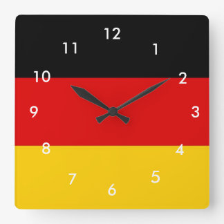 Germany Flag Square Wall Clock