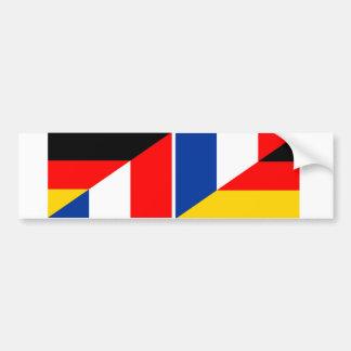 germany france flag country half symbol bumper sticker