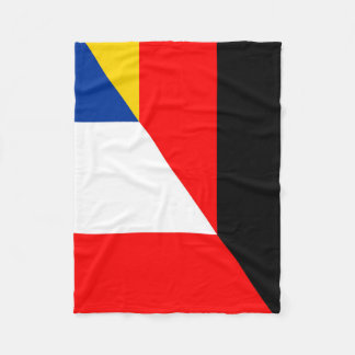 germany france flag country half symbol fleece blanket