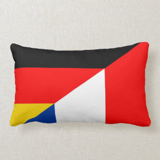 germany france flag country half symbol lumbar cushion
