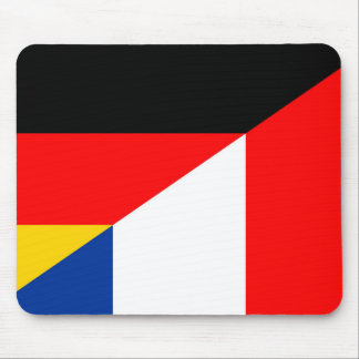 germany france flag country half symbol mouse pad