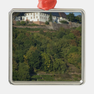 Germany, Franconia, Wertheim. Special hillside Silver-Colored Square Decoration