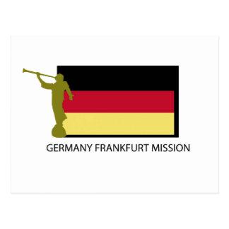 GERMANY FRANKFURT MISSION LDS CTR POSTCARD