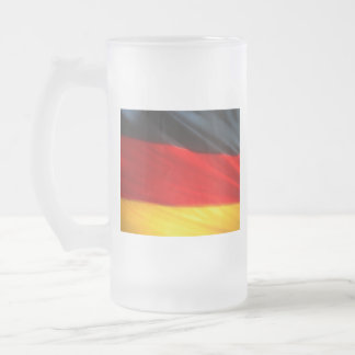 GERMANY FROSTED GLASS BEER MUG
