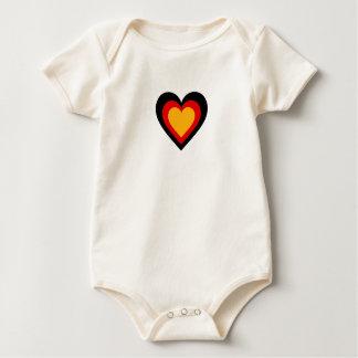 Germany/German Flag-Inspired Hearts Baby Bodysuit