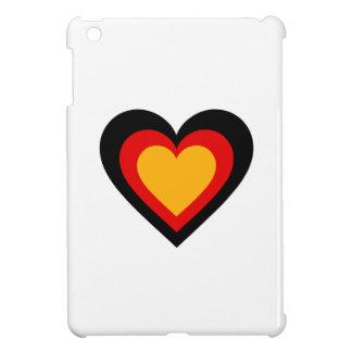 Germany/German flag-inspired Hearts iPad Mini Case