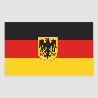 Germany/German Flag Rectangular Sticker