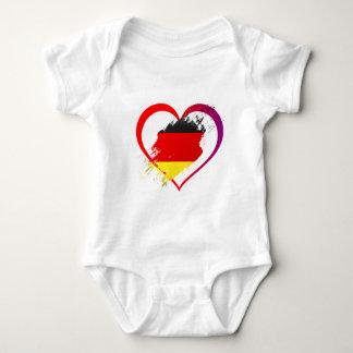 Germany heart baby bodysuit