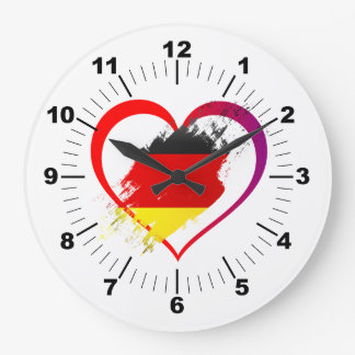 Germany heart large clock