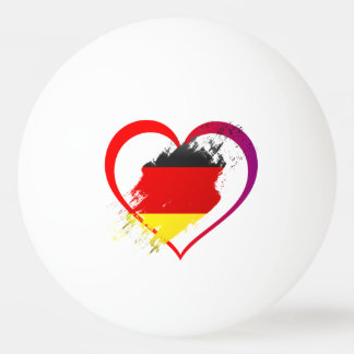 Germany heart ping pong ball
