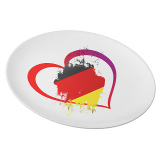 Germany heart plate