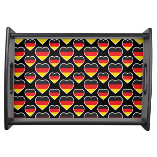 GERMANY HEART SHAPE FLAG SERVING TRAY