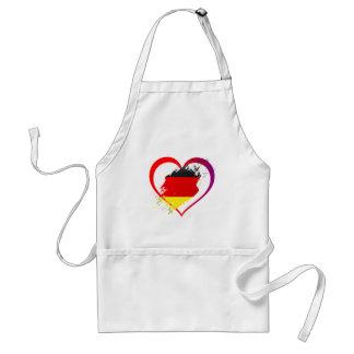 Germany heart standard apron