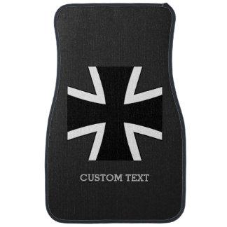 Germany Iron Cross car mats w/ custom text
