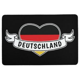 Germany Love custom text floor mat