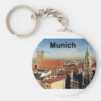 Germany Munich (St.K) Basic Round Button Key Ring