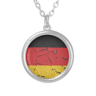 Germany Nation Europe Flag National Patriotism Silver Plated Necklace