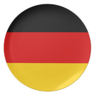 Germany National World Flag Plate