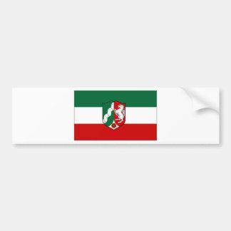 Germany North Rhine Flag Bumper Sticker