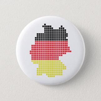 germany pixel flag 6 cm round badge