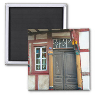 Germany, Rhineland, Rhens, half timbered houses 12 Square Magnet