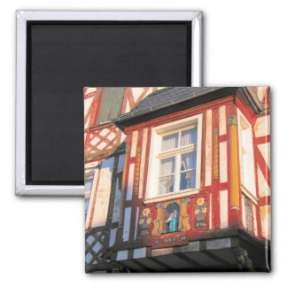 Germany, Rhineland, Rhens, half timbered houses 2 Refrigerator Magnets