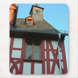 Germany, Rhineland, Rhens, half timbered houses Mouse Pad